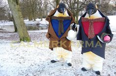 XMAS PENGUINS WALKABOUT ACT TO HIRE -UK http://www.calmerkarma.org.uk/XMAS-PENGUINS-walkabout-acts-to-hire