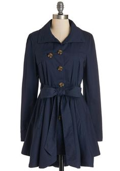 Just Called to Say Hyannis Coat in Navy. Call upon your nearest and dearest while clad in this classic navy trench from Jack by BB Dakota, and theyll be sure to comment on your chic style. #gold #prom #modcloth