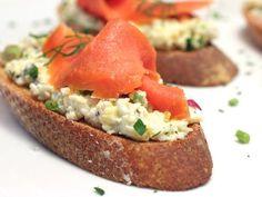 Egg Salad Tartines with Smoked Salmon