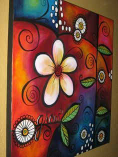 """Artist/Pinner, Darla P writes: """"This painting mostly done with my fingertips for blending. It was messy and fun to x 18 canvas . Wal Art, Painting Inspiration, Painting & Drawing, Time Painting, Art Lessons, Flower Art, Art Drawings, Art Projects, Canvas Art"""