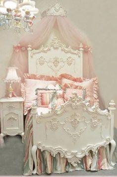 <3<3 princess bedrooms, decor, little girls, girl room, beds, dream, shabbi chic, princesses, princess room