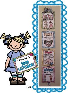 FREEBIE: Are these not the cutest posters!?!  Look how she linked them together with ribbon.  LOVE! First Grade Fever!