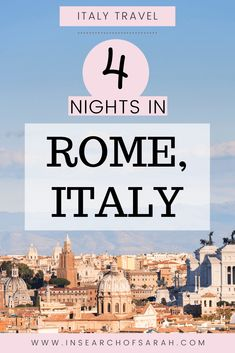 4 night Rome itinerary Rome Italy Attractions, Italy Destinations, Rome Vacation, Vacation Trips, Venice Travel, Rome Travel, Rome Photography, Rome Streets, Rome Itinerary
