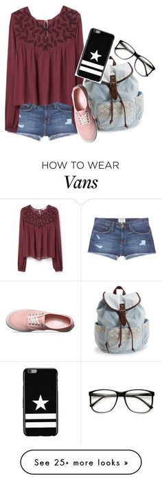 """-sits in my room;wipes my eyes-"" by caligirl199 on Polyvore featuring Current/Elliott, MANGO, Aéropostale, Vans and Givenchy"