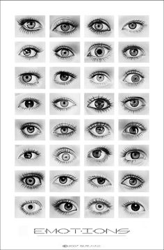 I wish I could draw like that... 12 Useful Eyes Drawing References and Tutorials... :)