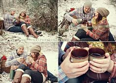 Coffee blanket snow perfect