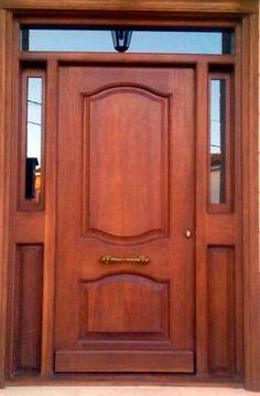 I love simple and pretty front doors. In a couple months when the weather warms up, we are replacing our front door and . Home Door Design, Wooden Main Door Design, Front Door Design, Exterior Doors, Entry Doors, House Front Door, Modern Door, Iron Doors, Wooden Doors