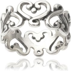 Tressa Collection Sterling Silver Heart Band