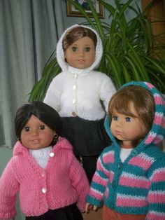Hoodie for 18 inch American Girl and Gotz Dolls - Free Knit Pattern