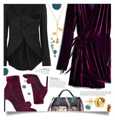 """Velvet Dress"" by dolly-valkyrie ❤ liked on Polyvore featuring Attico, Comme des Garçons GIRL, Giuseppe Zanotti and Lord & Taylor"