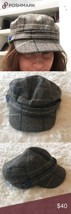 Hat Attack Lieutenant/Fiddler Hat Super cute tweed hat, great condition. Newsboy hat, cabbie hat.  Has a little elastic in the brim so adjustable. I have a small head and a really hard time finding hats to fit and this is perfect! Hat Attack Accessories Hats