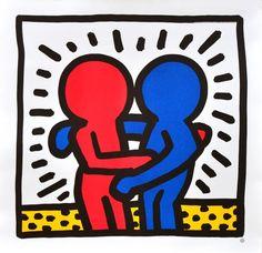 Dit is een: Litho / Steendruk, titel: 'Keith Haring Poster's' kunstwerk vervaardigd door: Diversen Keith Haring Poster, Keith Haring Prints, Keith Haring Art, Principles Of Art Balance, Balance Art, Roy Lichtenstein, Jm Basquiat, James Rosenquist, Poster Prints