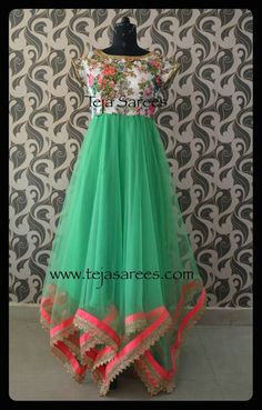 Indian Long Dress, Indian Dresses, Indian Outfits, Long Gown Dress, The Dress, Long Frocks For Girls, Dress Outfits, Fashion Dresses, Baby Frocks Designs