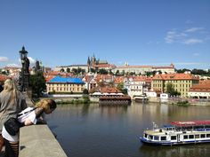 View of the river from Charles Bridge