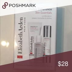 Elizabeth Arden Visible Difference Skin Essentials For combination skin. Travelers exclusive  Kit contains:  ***Visible Difference Skin  Balancing Toner 1.7 fl oz  ***Visible Difference Skin Balancing Exfoliating Cleanser 4.2 fl oz  *** Visible Difference Skin Balancing Lotion 1.7 fl oz Elizabeth Arden Other