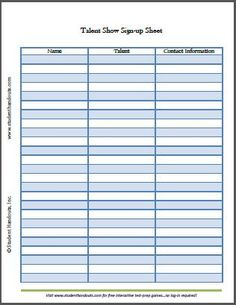 Free printable email signup sheet to help you grow your ...
