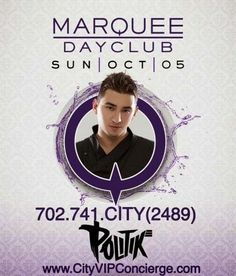Politik Sunday October 5th at Marquee Dayclub Las Vegas. Contact 702.741.2489 City VIP Concierge for Cabana, Daybed, Bungalow Reservations and the Best of Las Vegas Pool Parties. #MarqueeLasVegas #VegasPoolParties #LasVegasPoolParties #VegasVIPServices #VegasCabanas #CityVIPConcierge CALL OR CLICK TO BOOK www.VegasCabanas.com