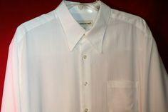 Pronto Uomo Mens Ribbed White Shirt Large Feels Looks Fabulous | eBay
