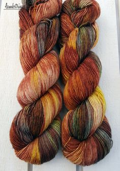 Monarch is a combination of tonal burnt oranges, light charcoal, and golden yellows with shots of dark browns and hints of olive green and blue. This listing is for one skein of Sadie Sock HT in Monarch shown above. Dyed together, they are the only 2 skeins in this dye lot. *This items quantities are customizable! If you are interested in more than one of these beauties, I will be more than happy to create a custom order just for you! Just click the link below…