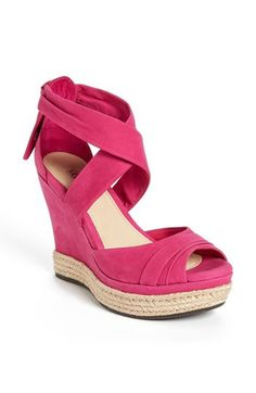Comfy #UGG wedge sandal in #pink http://rstyle.me/n/f2fs8nyg6