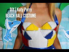 DIY  Katy Perry (Super Bowl) Beach Ball Costume - YouTube