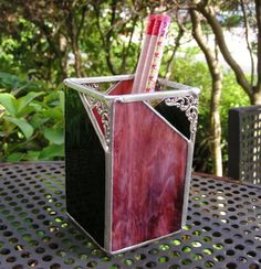 NEW Burgundy Rose/Dark Olive  Pen Holder Card by MoreThanColors