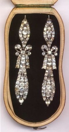 Boucles doreilles en diamants de Marie-Antoinette dAutriche.