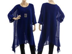 Large knitted sweater tunic overlay top  lagenlook von classydress, $242.00