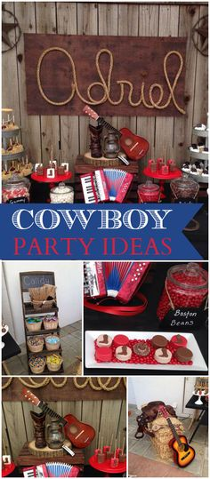 This party has a wonderful Wild West feel! See more party ideas at CatchMyParty.com!