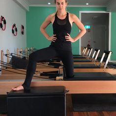 One of my favourite ways to work the inner thighs - other than feet in the straps of course! Just half a spring is all you need. Pilates Workout Routine, Pilates Body, Pilates Reformer Exercises, Pilates Video, Pilates For Beginners, Pilates At Home, Pilates Studio, Wellness Fitness, Physical Fitness