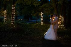 Cheers Chalet Lancaster, Ohio Wedding: Bride and Groom Portraits after dark - Kaylina Norton Photography