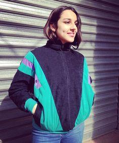 90s vintage velvety zip jacket de la boutique JoliParisRetro sur Etsy