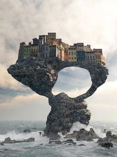 Precarious Digital Art by Cynthia Decker
