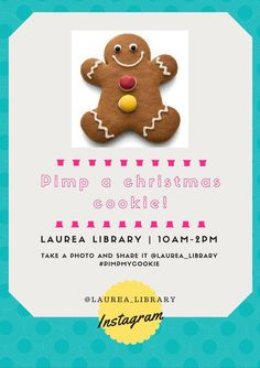 Leppävaara Library offers seasonal drinks and gingerbread on 1.12. 10-14 to thank the beloved customers for the year. <3 This years theme is Pim my cookie: decorate gingerbread and take a photo to Instagram with a hashtag #pimpmycookie