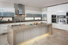 Steel and stone from Optima Kitchens