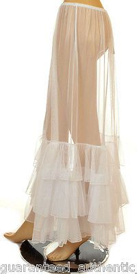This Long Lagenlook Petticoat is sheer to add ruffles but no bulk.