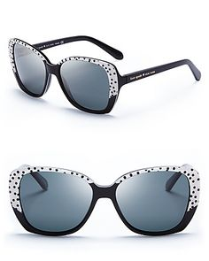 kate spade new york Brenna Oversized Polarized Sunglasses | Bloomingdale's