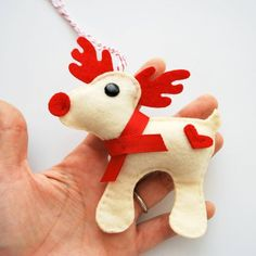 Christmas Reindeer - Rudolph the Red Nosed Reindeer, Felt Christmas......