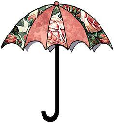 artbyjean clip art umbrella   UMBRELLAS - Set A14 - Old Rose Garden - A collection of crafty prints ...