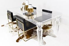 Palm Beach Lucite Dining Table                           | ModShop