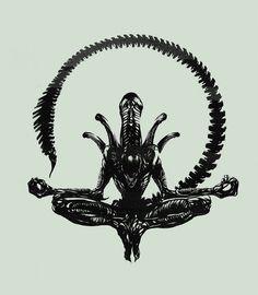 Giger's Alien in lotus position how Zen Hr Giger, Giger Alien, Giger Art, Lotus Position, Lotus Pose, Alien Vs Predator, Art Alien, Alien Artist, Aliens Movie