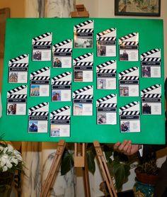 Film Themed wedding seating board