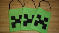 Minecraft Inspired Felt Party Favor Gift Bags -