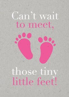 Tiny Feet Pink | New Baby | BC1595