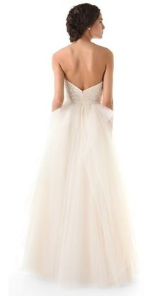 Reem Acra Eternity Strapless  Angel's comments: love the back