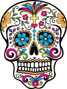 Colorful sugar skull sugar-skull-love