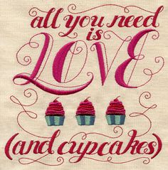 Love and Cupcakes | Urban Threads: Unique and Awesome Embroidery Designs