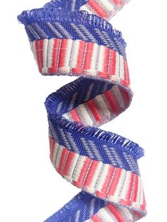 multicolored polyester fantasy ribbon with fringes