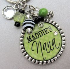 Nana Personalized keychain - Children's Name, Godmother, Mom, Grandmother, Aunt gift, Mother's Day gift, Purse Clip,Mimi, Cross charm