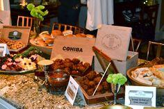 Cigars & Stars   30th Birthday Party.  Cigar boxes make great food displays